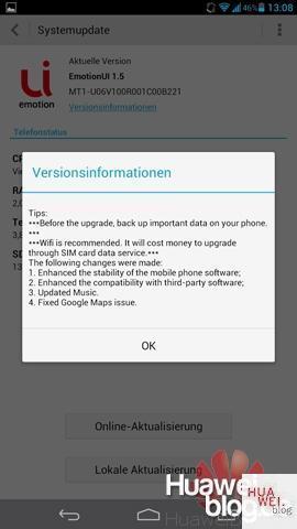 Huawei MT1-U06 - Firmware Update