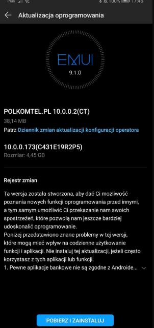 Huawei P30 Pro EMUI 10 update