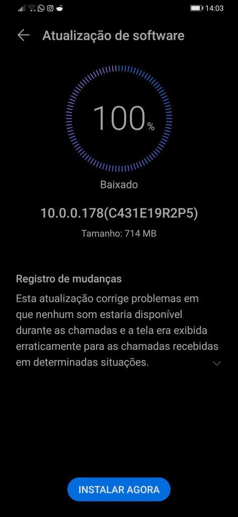 emui 10 update brazil