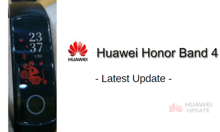 Honor Band 4 latest update