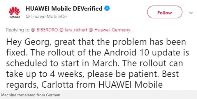 Huawei P20 Pro EMUI 10 Europe