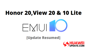 Honor 20, View 20 and 10 Lite emui 10