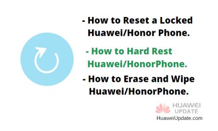 How to hard reset Huawei