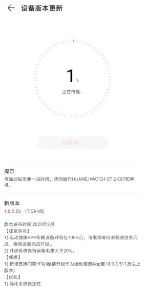 Huawei Watch GT 2 update