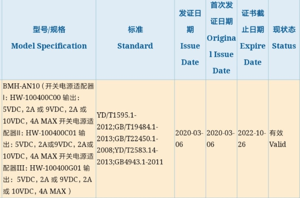 Huawei new 5g phone 3c certificate
