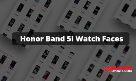 New Honor Band 5i Watch Faces