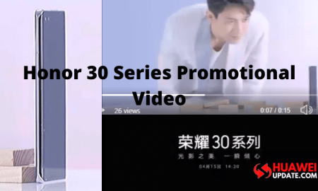 Honor 30 series promotional video