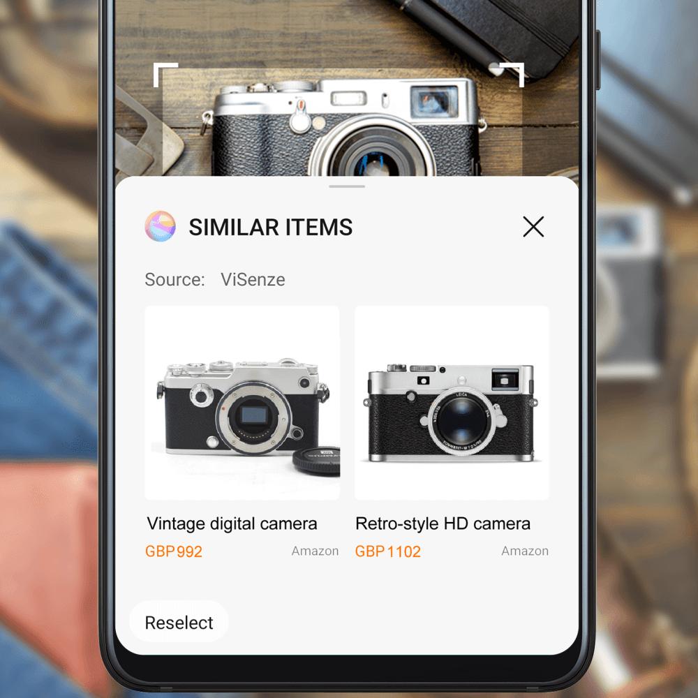 EMUI 10.1 AI Shopping