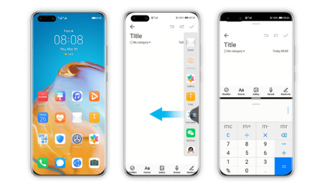 EMUI 10.1 Split screen for Multi-tasking