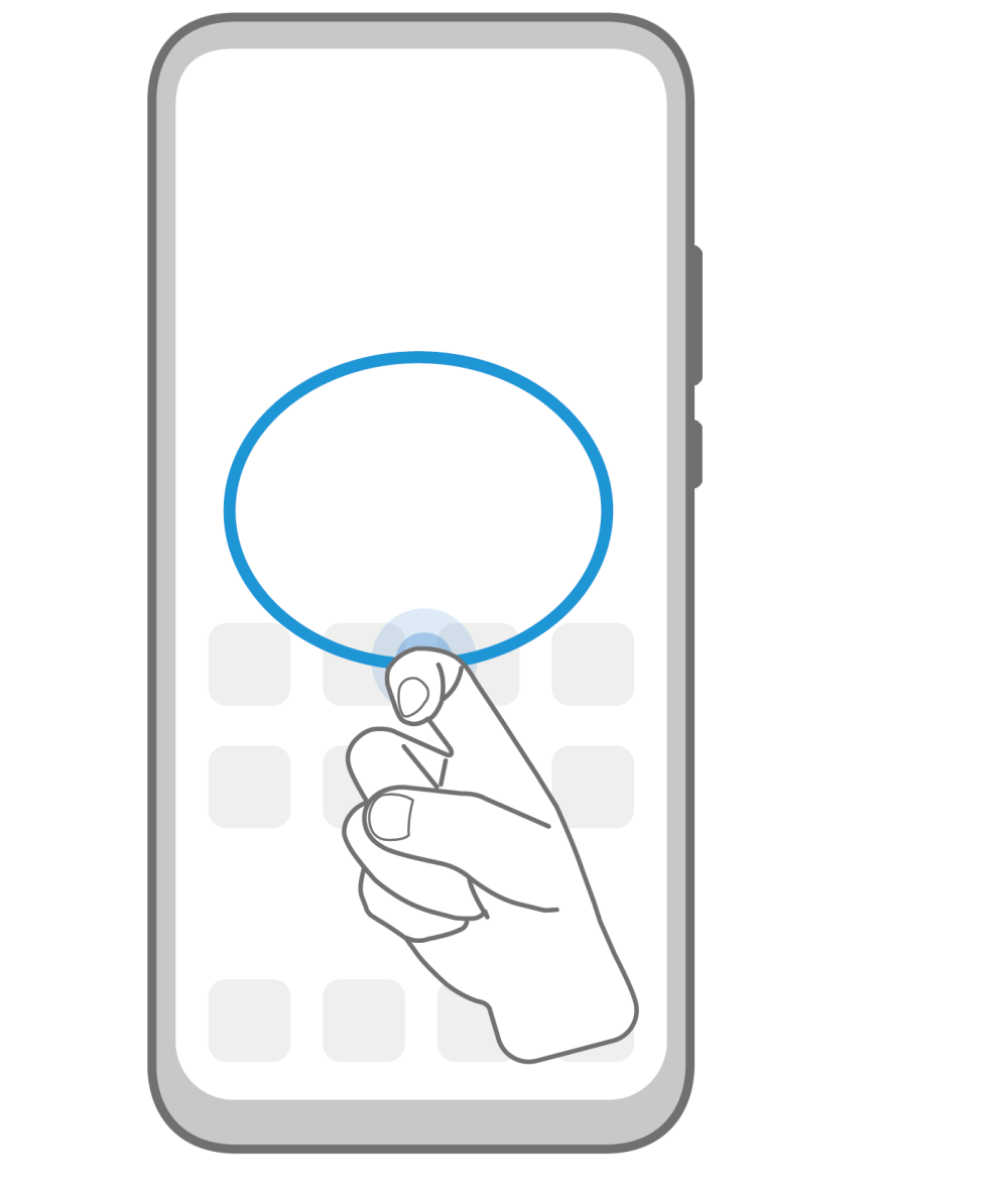 EMUI Knuckle Gesture Capture Part Of the screen