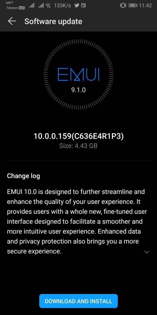 Huawei Mate 10 Pro EMUI 10.0.0.159