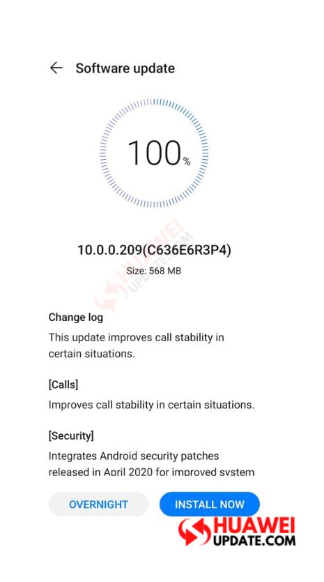 Huawei P30 EMUI 10.0.0.209