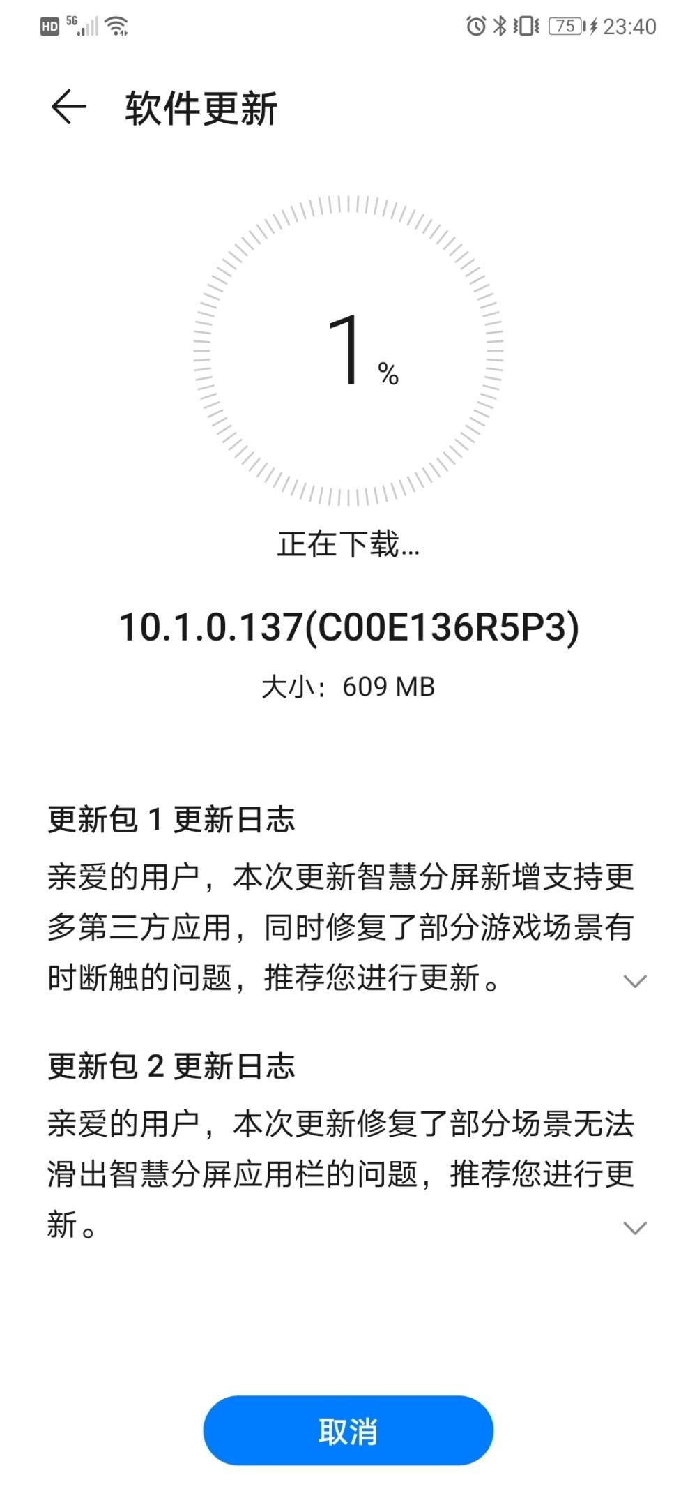Huawei Mate 30 EMUI 10.1.0.137
