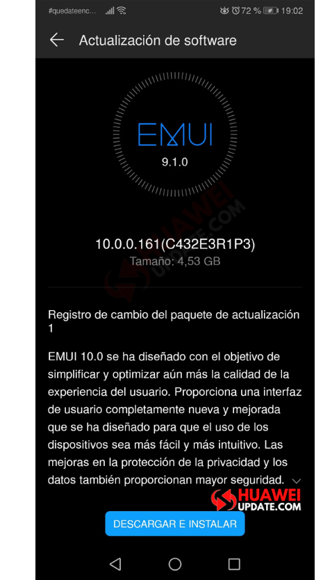 Huawei P20 Pro EMUI 10 Colombia