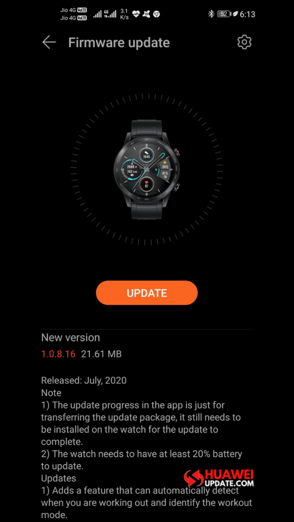 Honor MagicWatch 2 v1.0.8.16