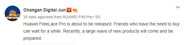 Huawei FreeLace Pro wireless