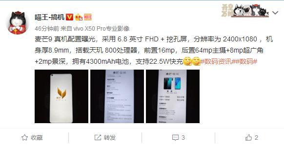 Huawei Maimang 9 specs leaked