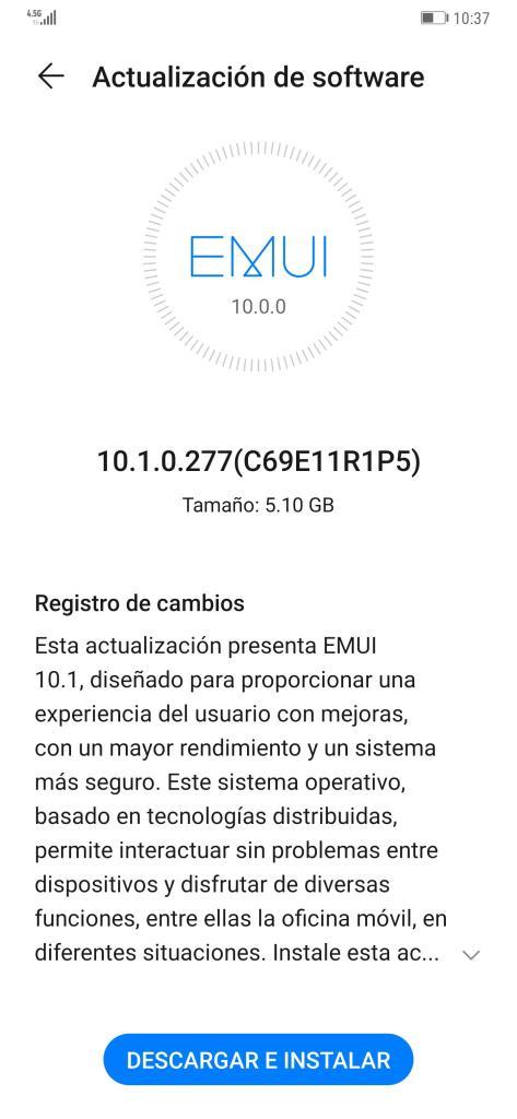 EMUI 10.1 Mexico