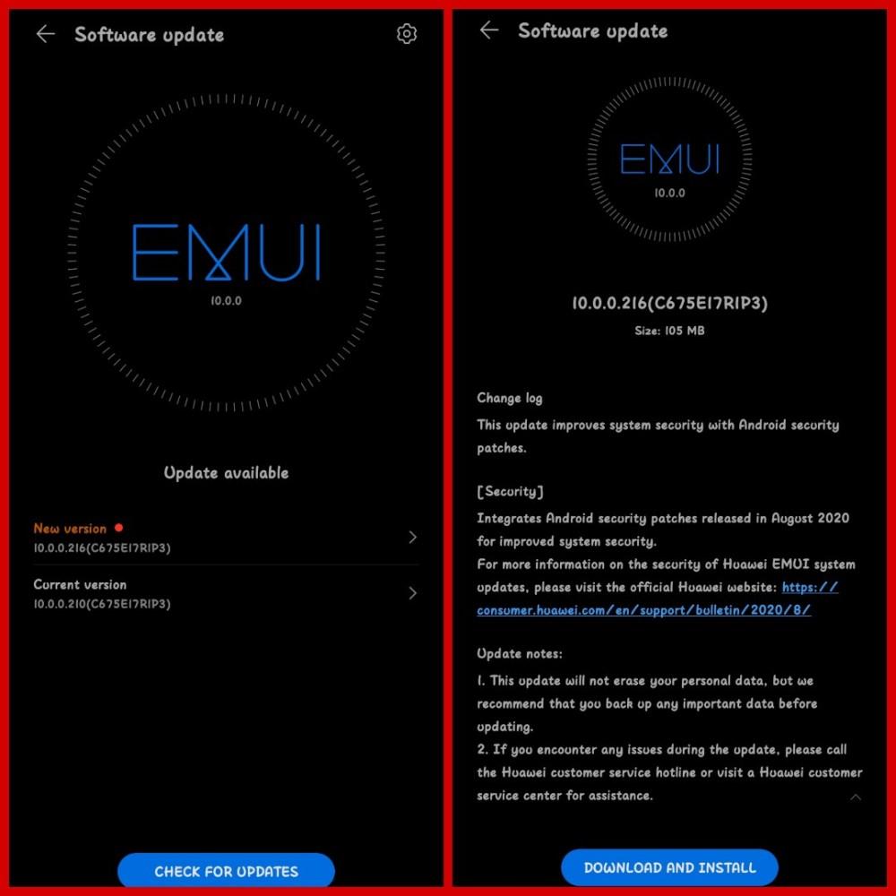 Honor 10 Lite EMUI 10.0.0.216