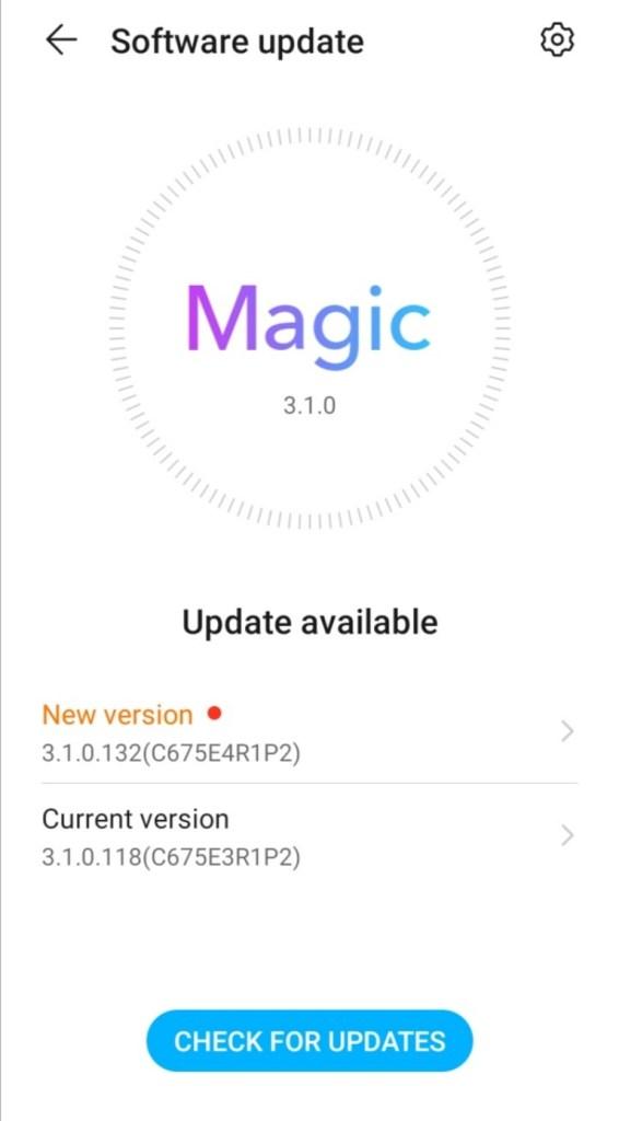 Honor 9S Magic UI 3.1.0.132 update