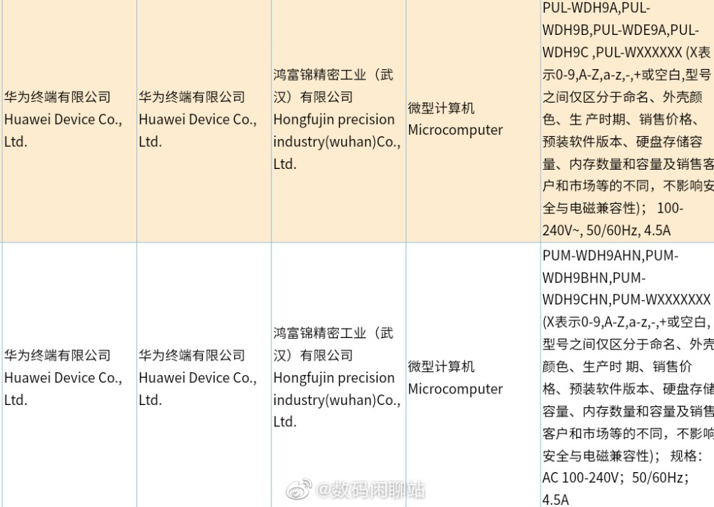 Huawei Qingyun W510 desktop received 3C certification
