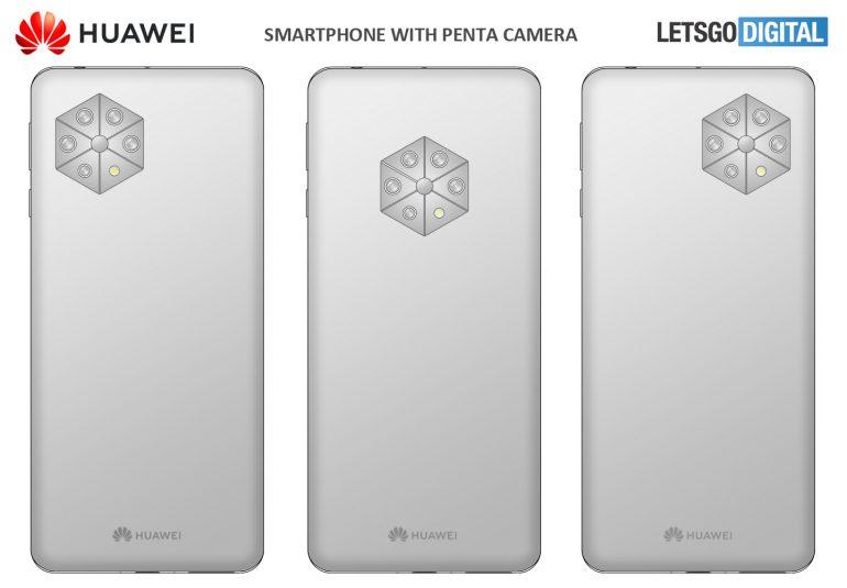 Huawei Penta camera patent models