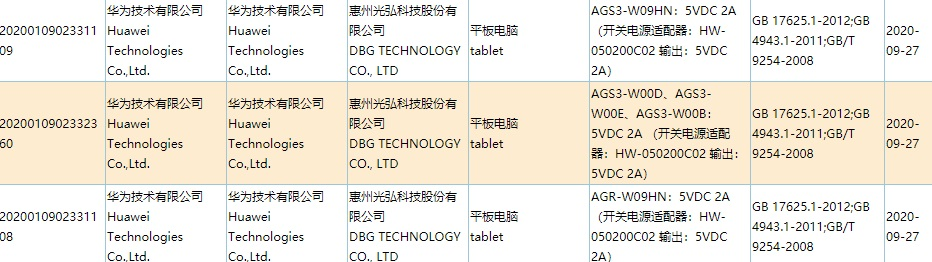 Huawei new tablet 3C