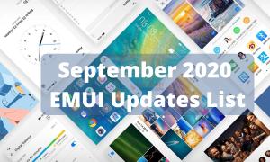 September 2020 EMUI 10.1 and EMUI 10 update list