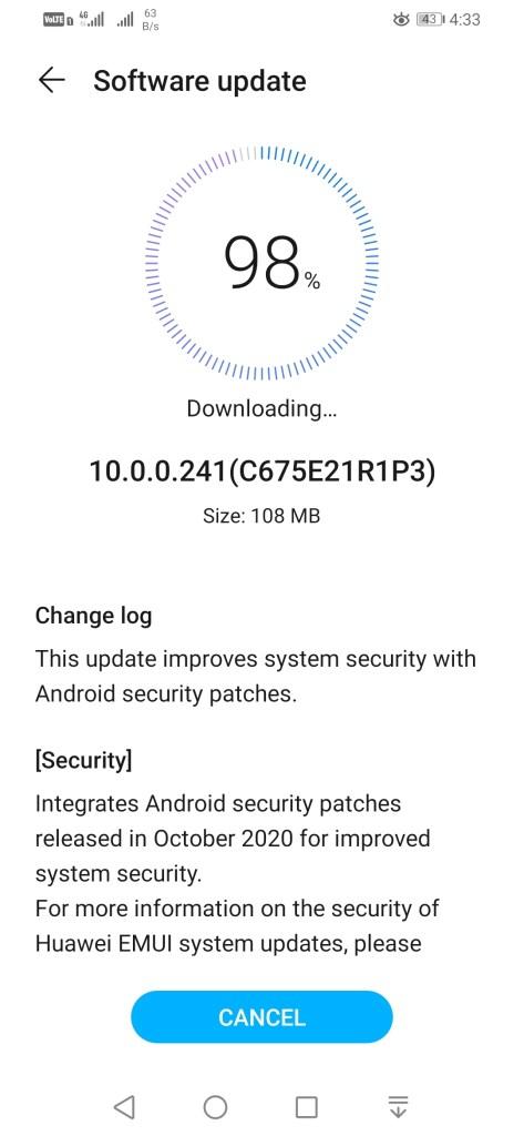 Honor 10 Lite EMUI 10.0.0.241