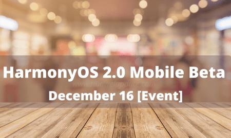 HarmonyOS 2.0 Mobile Beta launch event