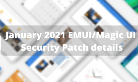 Huawei January 2021 security patch details