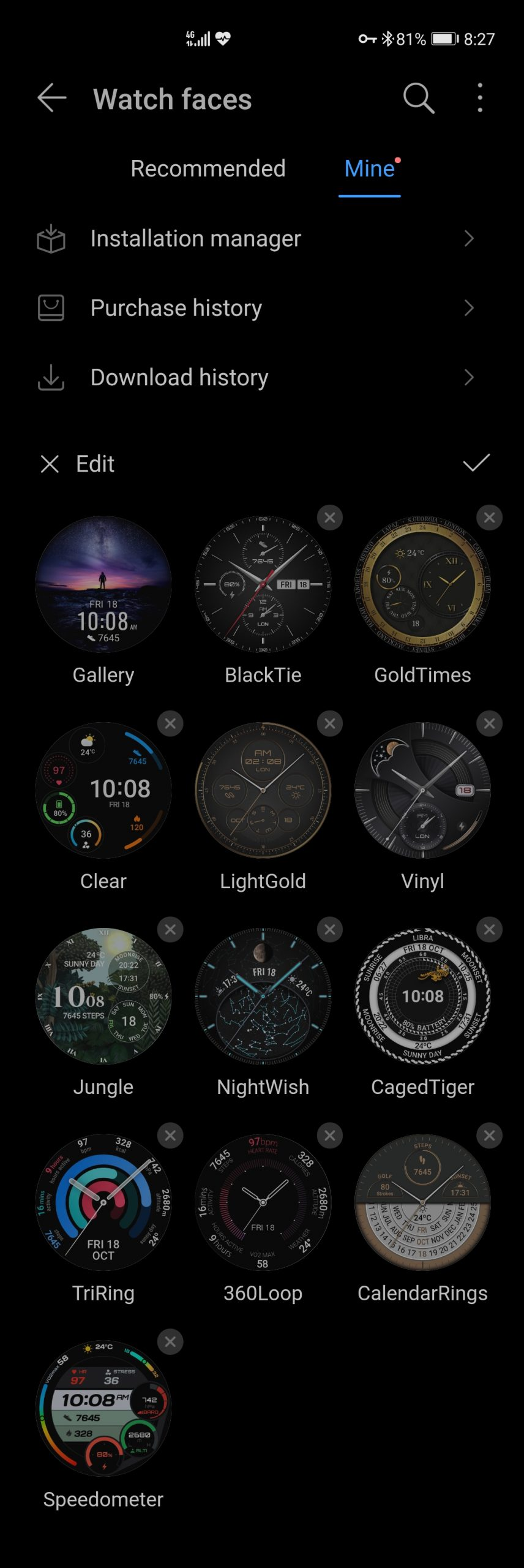 Tap Watch faces