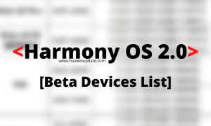 Huawei HarmonyOS 2.0 developer Beta