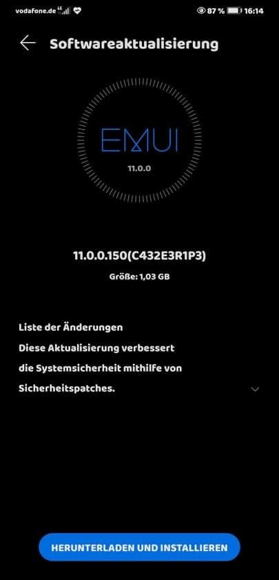 Huawei Mate 20 EMUI 11.0.0.150
