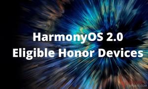 HarmonyOS 2.0 Eligible Honor Devices