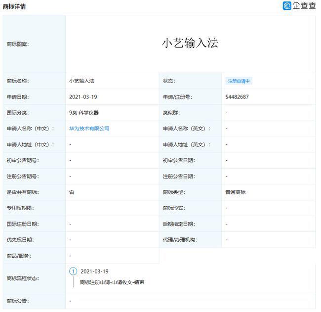 Huawei Celia Keyboard Trademark