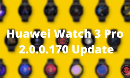 Huawei Watch 3 Pro 2.0.0.170 Update