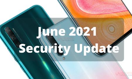 June 2021 Security Update - Honor 20 Lite
