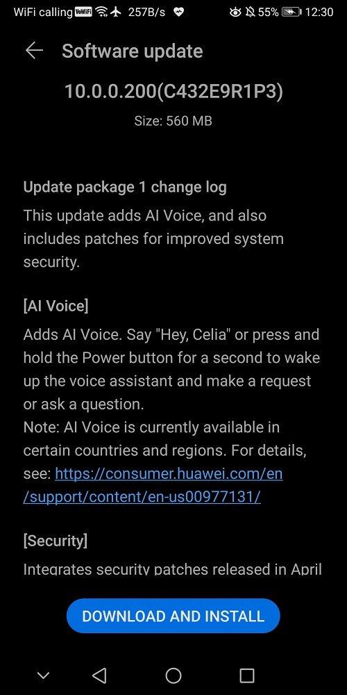 Huawei Mate 10 Pro EMUI 10.0.0.200