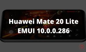 Huawei Mate 20 Lite EMUI 10.0.0.286