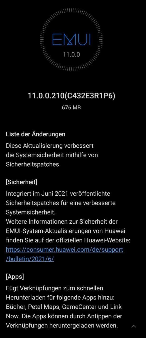 Huawei MatePad Pro 10.8 EMUI 11.0.0.210