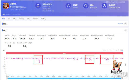 Huawei P50 Pro game measurement-1