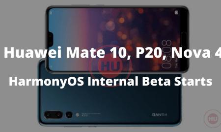 Mate 10, P20 - HarmonyOS Internal Beta