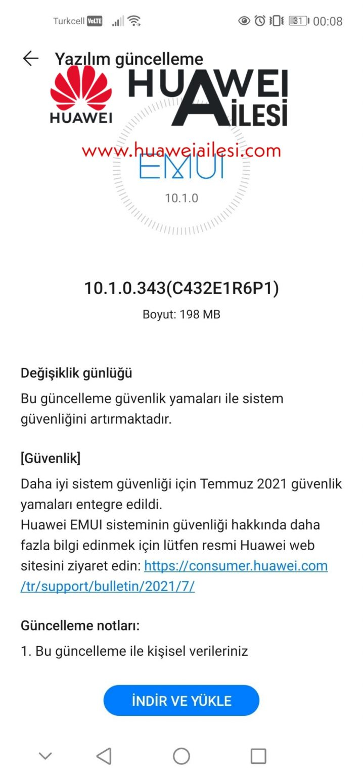 Huawei P40 Lite July 2021 patch