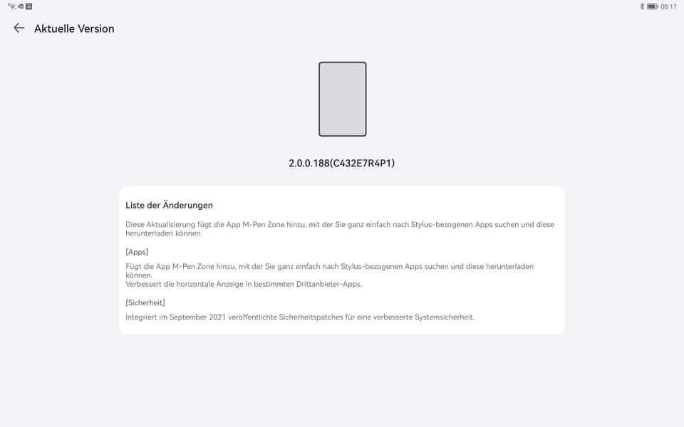 Huawei MatePad Pro 12.6 WGR-Wx9 2.0.0.188