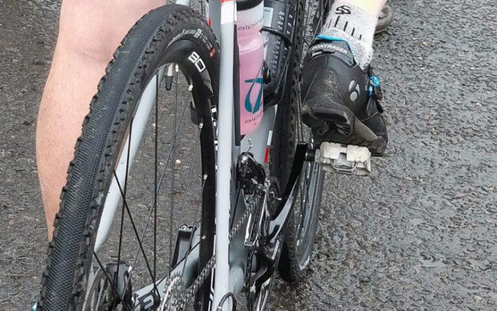 A gravel bike at rest