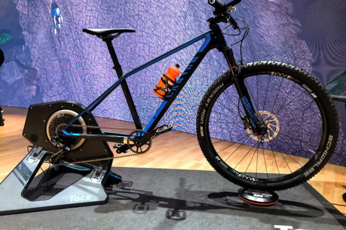 Mountian bike on a turbo trainer