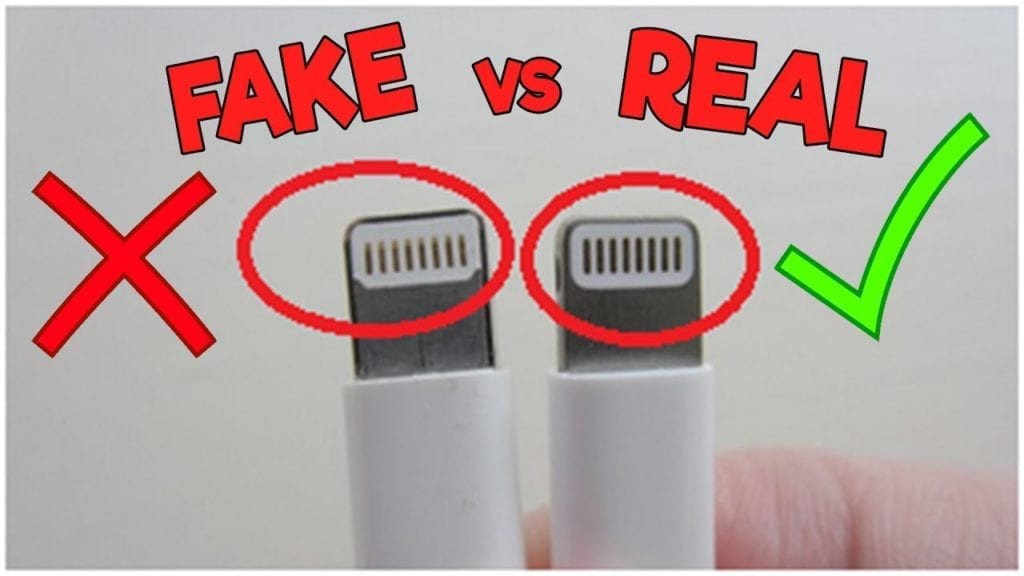 bc1ef51e73d Apple Lightning cable connector Fake VS Original