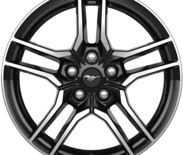 Aly Ford Mustang Wheel Black Machined Jrza