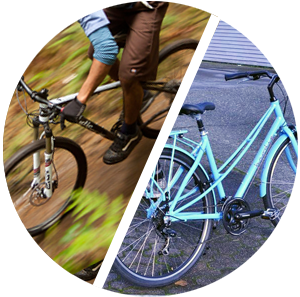mountain and street bike rental